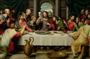 The setting for today's gospel is the Last Supper.