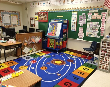 Thank you to the Spencer family for the new rug in 1st Grade!