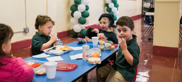 preschool lunch table. St. Peter Prince Of Apostles School Offers Preschool Classes In Both 3 And 4 Year Old Pre-Kindergarten Programs. Our Students Attend Several Auxilary Lunch Table