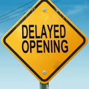 Delayed Start Wednesday January 17th