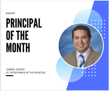 Mr. Duarte Named Principal of the Month