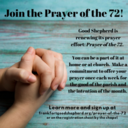 Be part of the 72! Let's pray together!