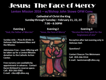 Jesus: The Face of Mercy-- Lenten Mission