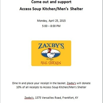 Fundraiser for Access Soup Kitchen/Men's Shelter