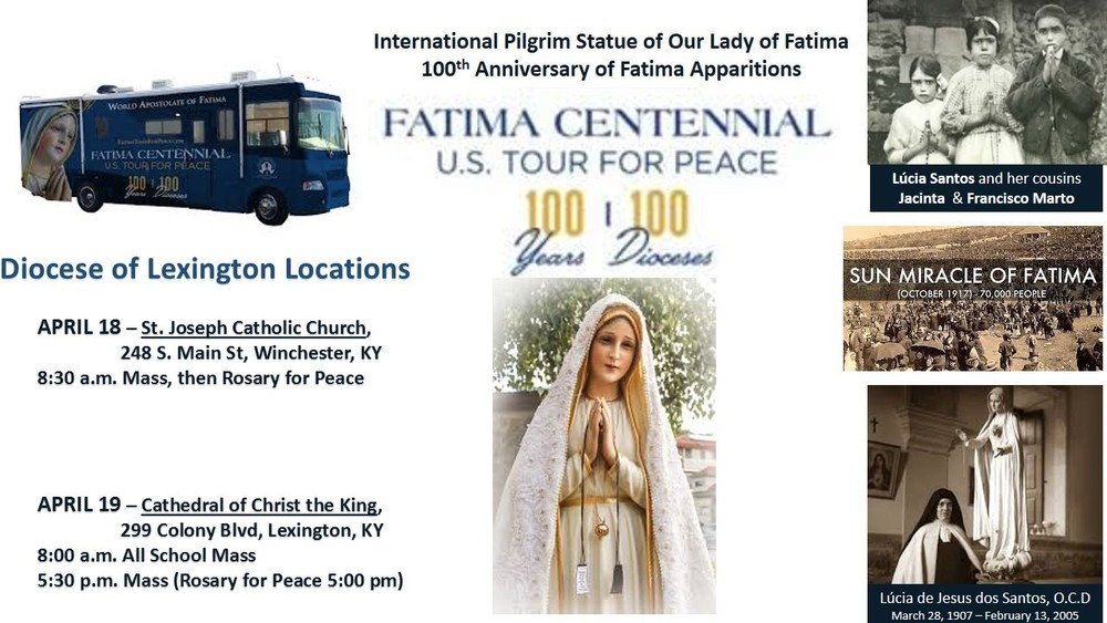 Fatima Tour in our Diocese - Good Shepherd Catholic Church