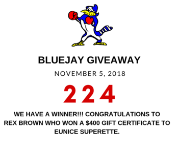 Blue Jay Giveaway