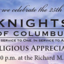25th Annual Knights of Columbus Clergy and Religious Appreciation Banquet | November 2