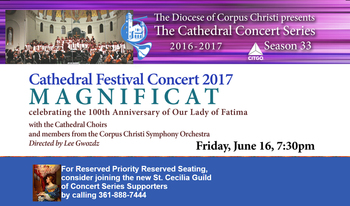 Cathedral Festival Concert 2017, Friday, June 16 at 7:30PM