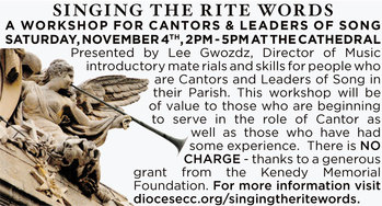 Singing the Rite Words | A Workshop for Cantors & Leaders of Song