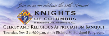 KOFC 25th Annual Clergy & Religious Appreciation Banquet