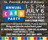St. Patrick Altar & Rosary Annual Card Party | July 6th