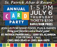 St. Patrick Altar & Rosary Annual Card Party