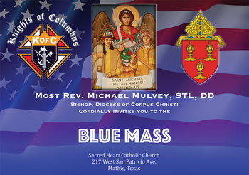 16TH ANNUAL BLUE MASS | Saturday, Sept. 30 at 6 PM