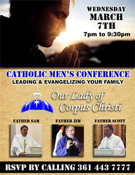 Catholic Men's Conference | Wednesday, March 7, 2018 - 7PM-9:30PM