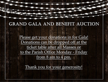 Gala Auction Donations