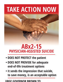 TAKE ACTION NOW - Physician-Assisted Suicide