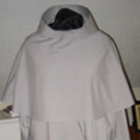 Habit with elbow length circular capuche