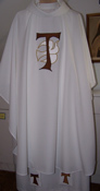 Tau and Holy Spirit Chasuble