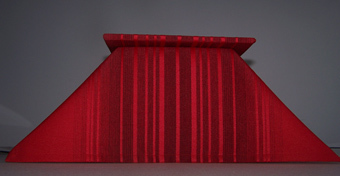 Chalice Veil and Bellows Style Burse in Red Shades of Glory