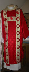 Jerusalem Cross Red
