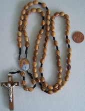 corded Franciscan Crown Rosary with Pope Francis Center