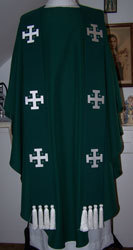 Jerusalem Cross Overlay Stole