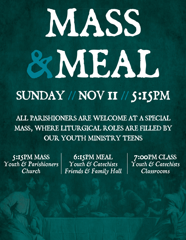 Mass and Meal - St  Thomas More Catholic Church - Chapel