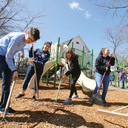 School, local community come together to build playground in one day