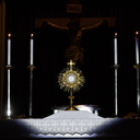 Adoration of Blessed Sacrament at Altars of Repose on Holy Thursday