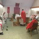 Newly Ordained Impart Special Blessings on Retired Priests