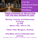 Cathedral of SS Peter & Paul Lenten Evenings of Reflection