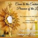 Holy Hour of Adoration in the Cathedral Sunday at 12 noon