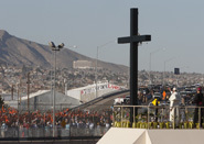 'No more death, no more exploitation,' pope says at U.S.-Mexico border