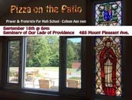 Fri., Sept. 16: Pizza on the Patio