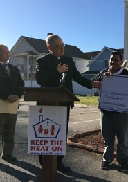 Bishop Tobin kicks off the annual 'Keep the Heat On' campaign