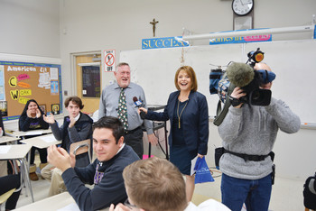 Long-time teacher at Saint Raphael Academy Receives Golden Apple Award