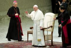 Don't confess other's faults, own up to sins, pope says at audience