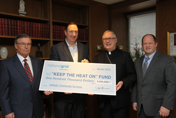 Diocese receives Major Donation from National Grid Foundation for 'Keep the Heat On'