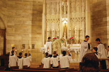 Traditional Latin Mass a draw at St. Mary's on Broadway