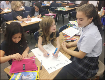 Students discuss virtues, make new friends