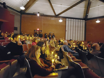 Prout students learn impact of impaired driving during annual MADD Vigil