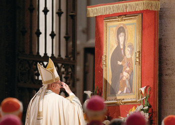 Pope adds feast of Mary, mother of the church to universal calendar