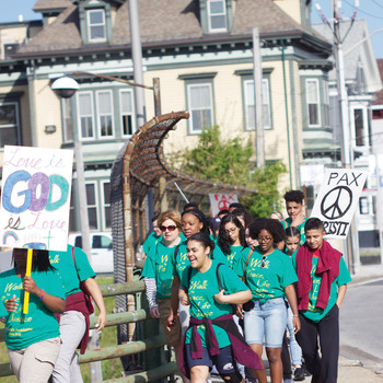 St. Patrick Academy students go the extra miles in walking, praying for peace