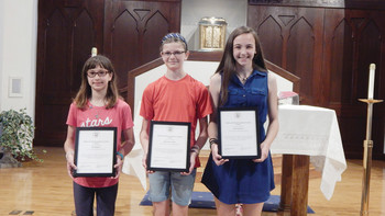 Three students from St. Luke's School honored with Academic Excellence Award