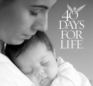 40 Days for Life Fall Campaign, Sept. 26 thru Nov. 4