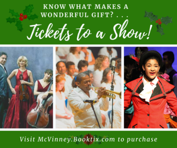 Give the gift of the Arts this Christmas season!