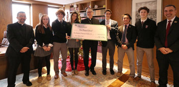 Diocese awards $100,000 grant to help The Prout School break ground on new athletic field