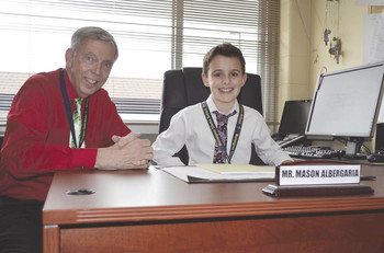 Monsignor Clarke School student promoted to 'Principal of the Day'