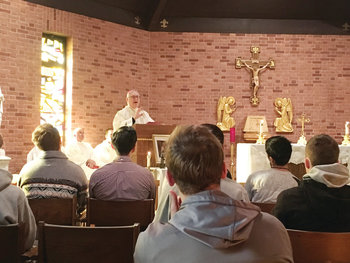 Great attendance during priesthood discernment retreat