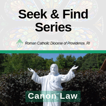 Seek & Find Series: Canon Law with Fr. Timothy D. Reilly, M.A., J.C.L.